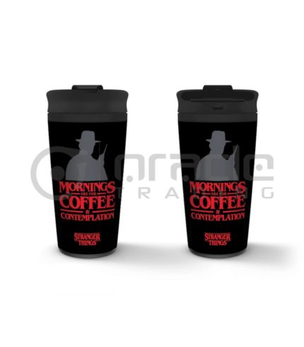 Stranger Things Metal Travel Mug - Coffee & Contemplation