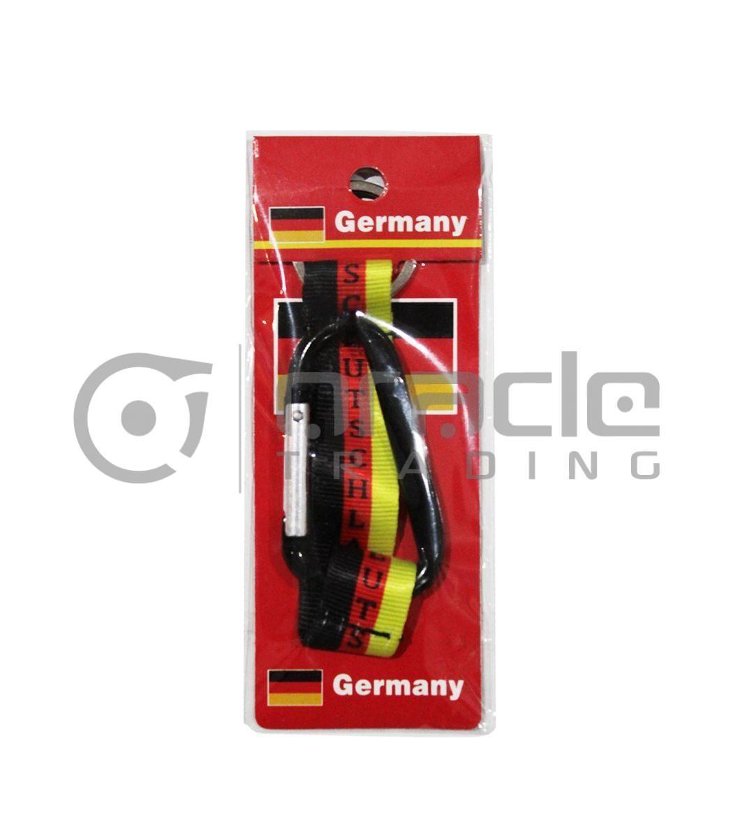 Germany Mini Lanyard Keychain 12-Pack