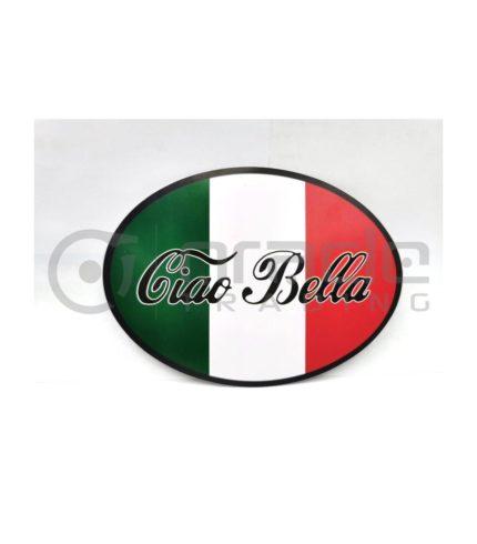 Italia Oval Decal - Ciao Bella