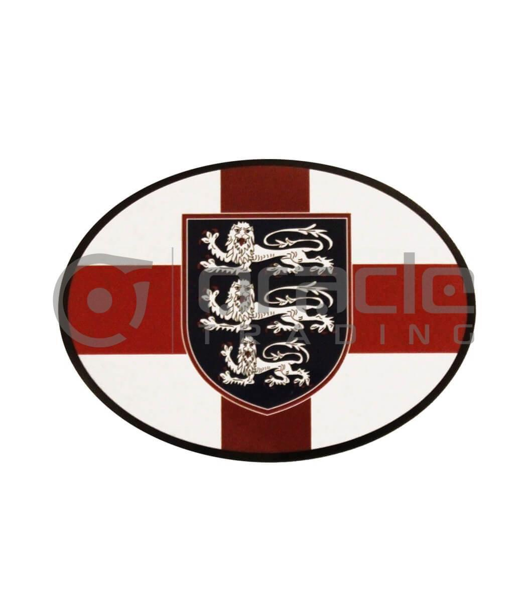 England Oval Decal
