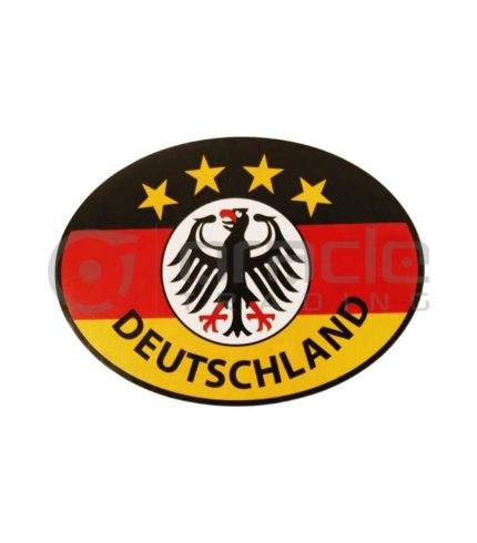 Germany Oval Decal - Deutschland 4-Stars