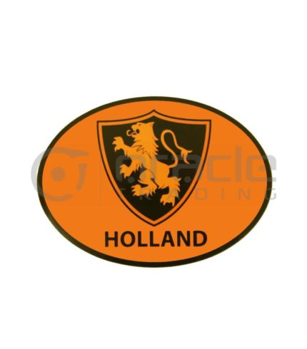 Holland Oval Decal - Orange