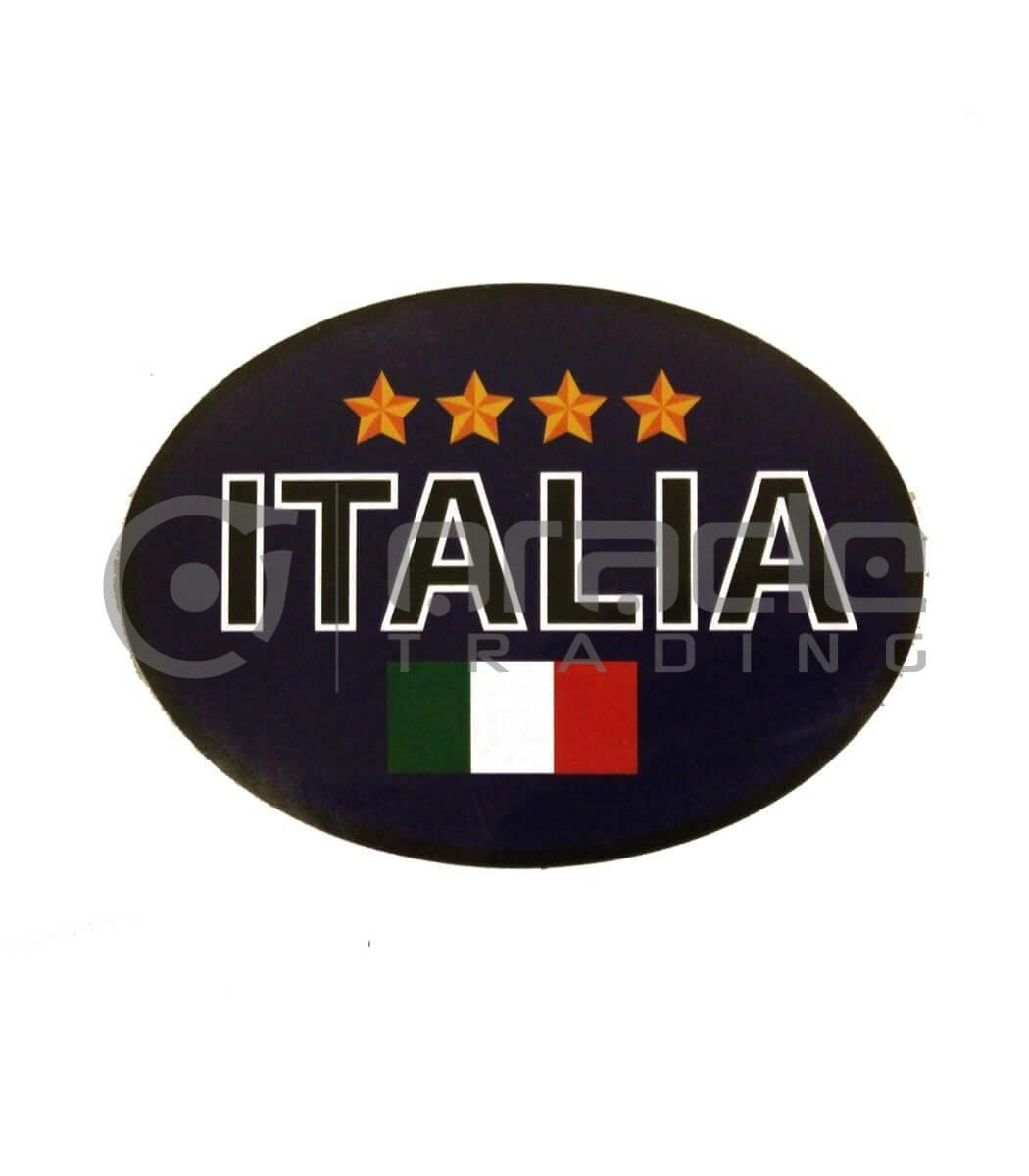 Italia Oval Decal - Blue 4-Stars