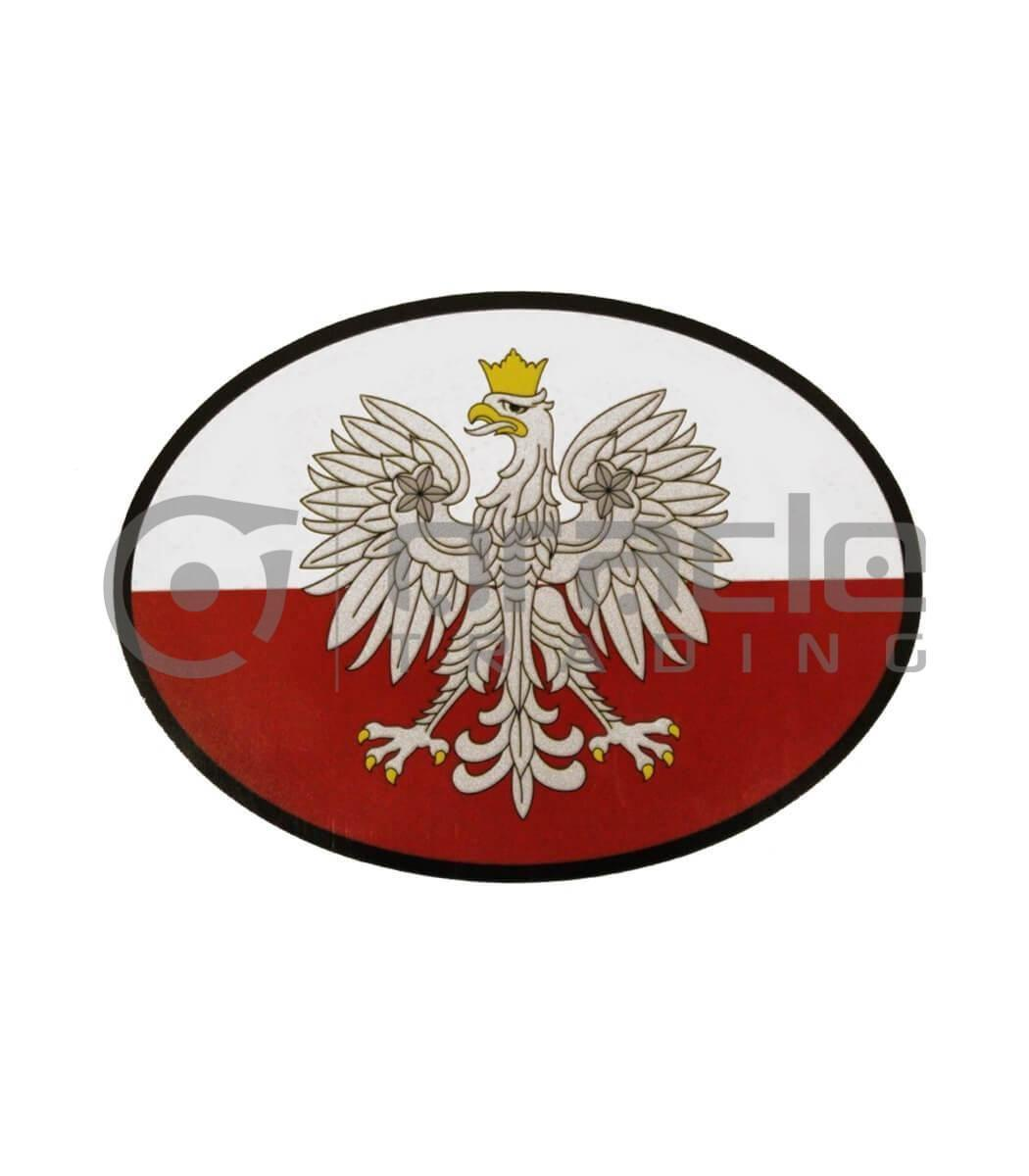 Poland Oval Decal - Eagle