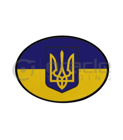 Ukraine Oval Decal