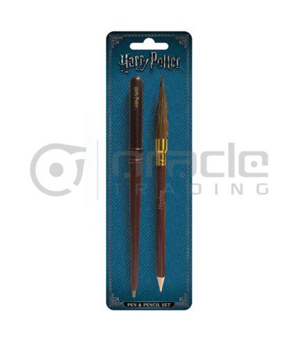 Harry Potter Pen & Pencil Set (Wand & Broom)