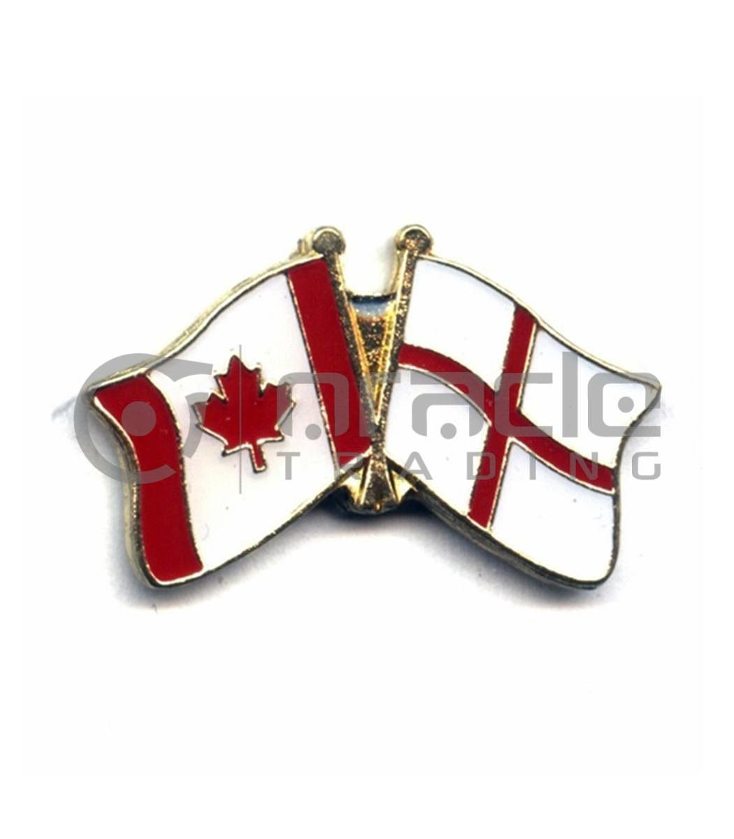 England / Canada Friendship Lapel Pin