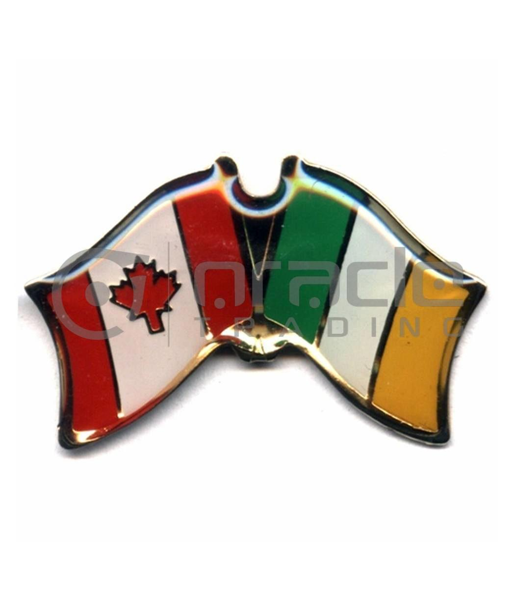 Ireland / Canada Friendship Lapel Pin
