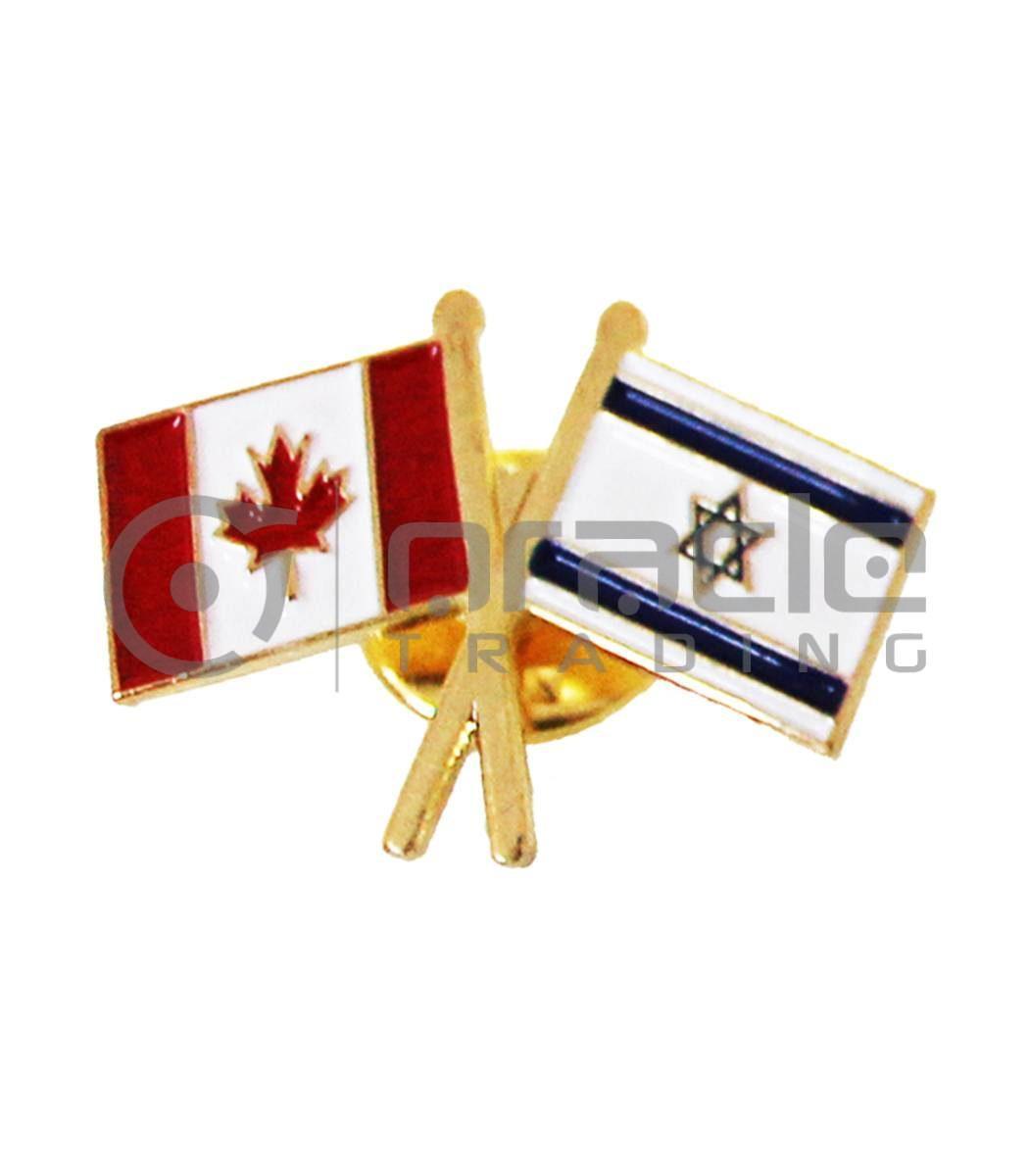 Israel / Canada Friendship Lapel Pin