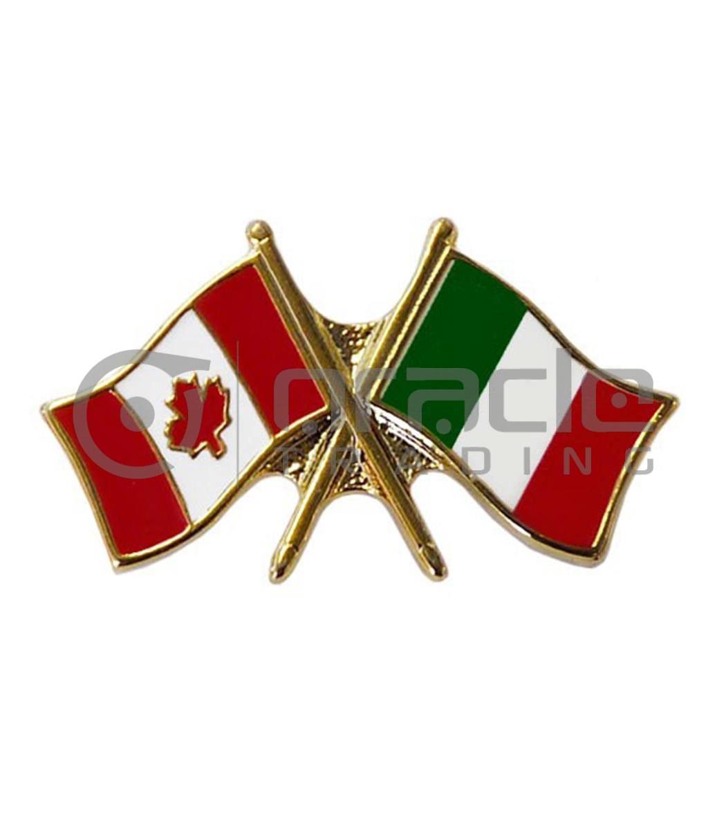 Italia / Canada Friendship Lapel Pin