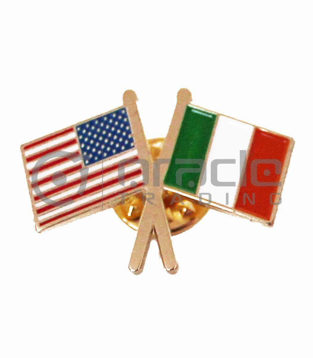 Italian American Friendship Lapel Pin