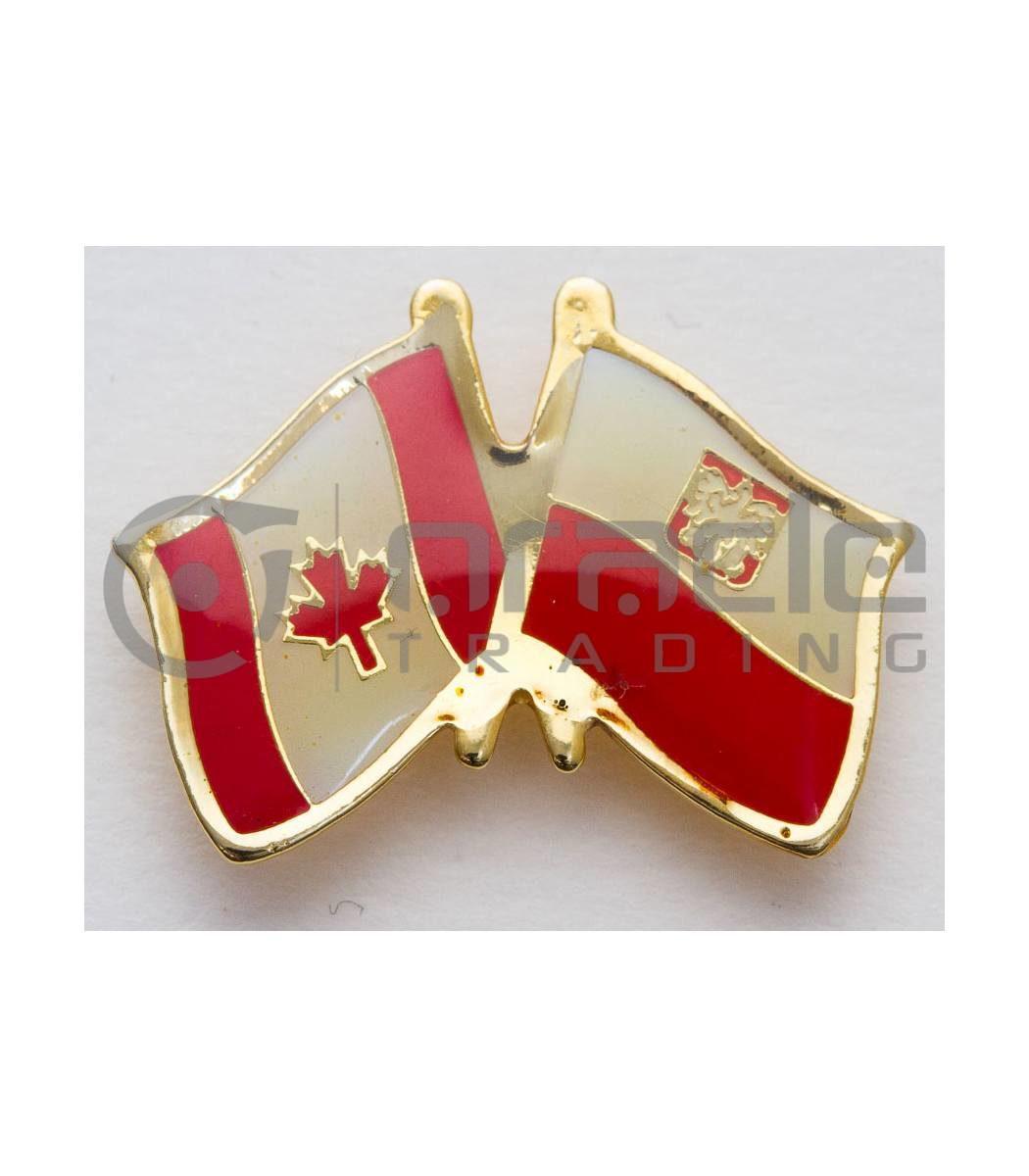 Poland / Canada Friendship Lapel Pin