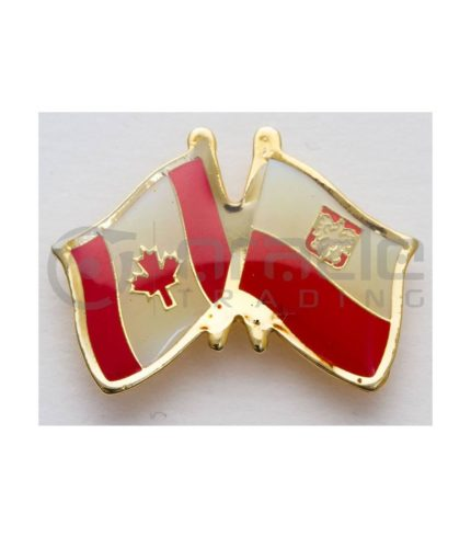 Poland / Canada Friendship Lapel Pin