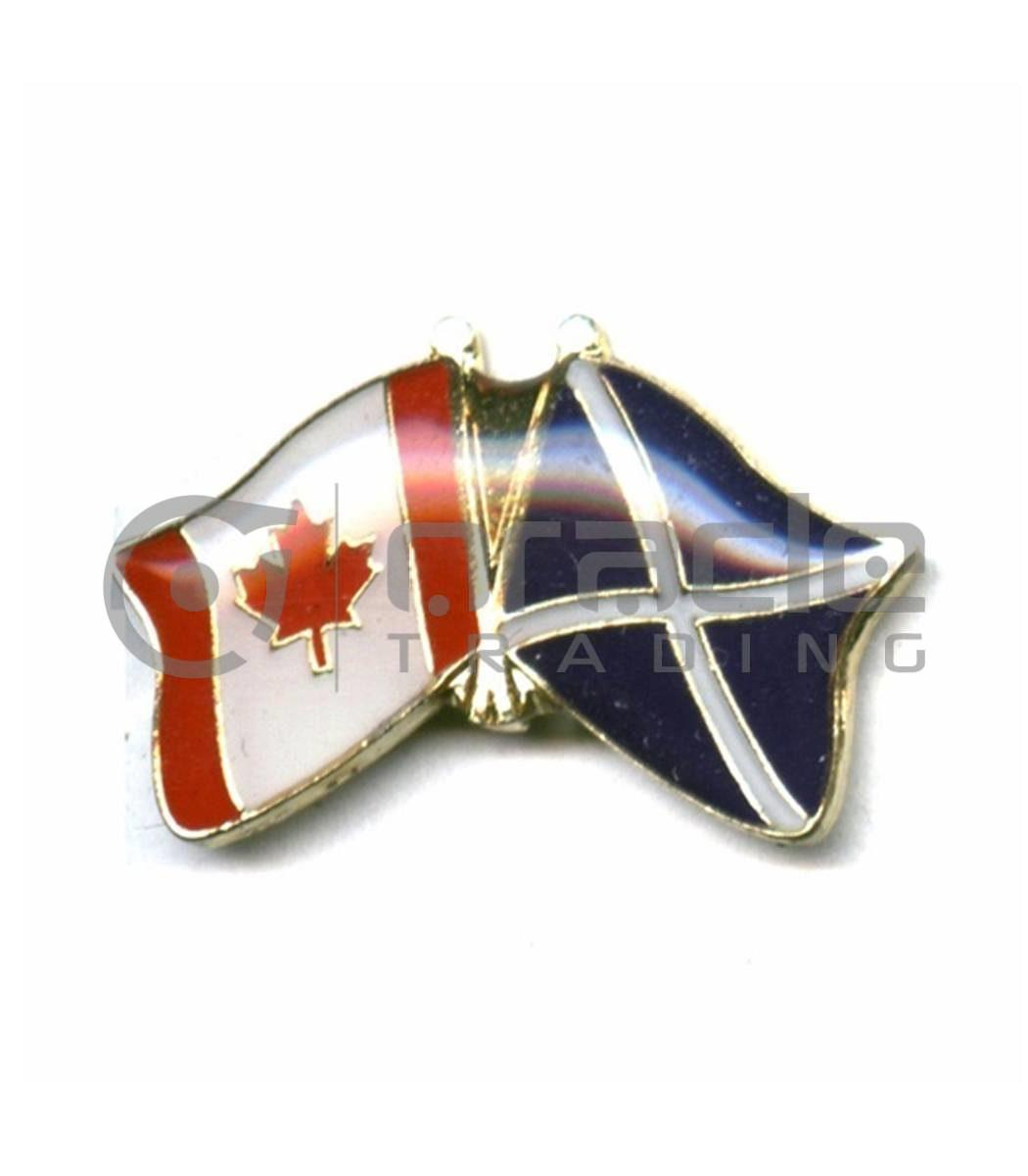 Scotland / Canada Friendship Lapel Pin (St. Andrew's Cross)