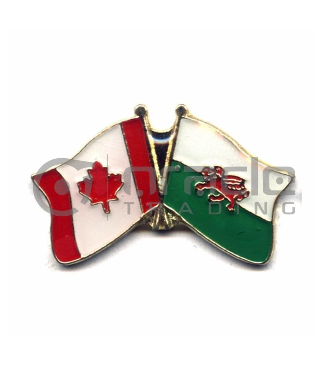 Wales / Canada Friendship Lapel Pin