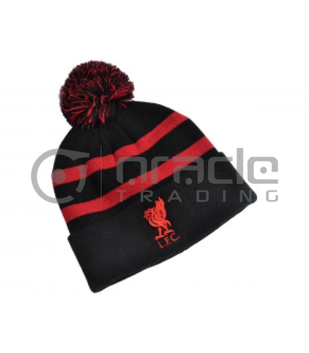 Liverpool Pom Beanie - Red Stripes