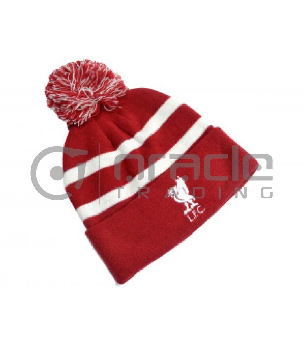 Liverpool Pom Beanie - White Stripes
