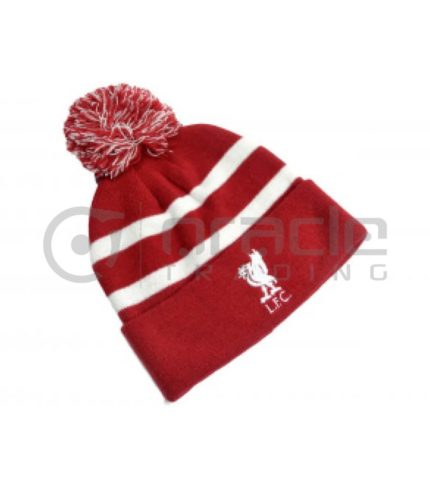 Liverpool Pom Beanie - White Stripes