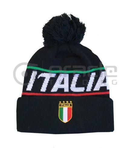 Italia Pom Beanie (Black)