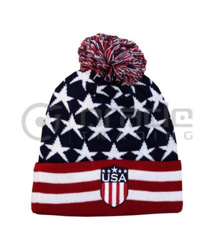 USA Pom Beanie