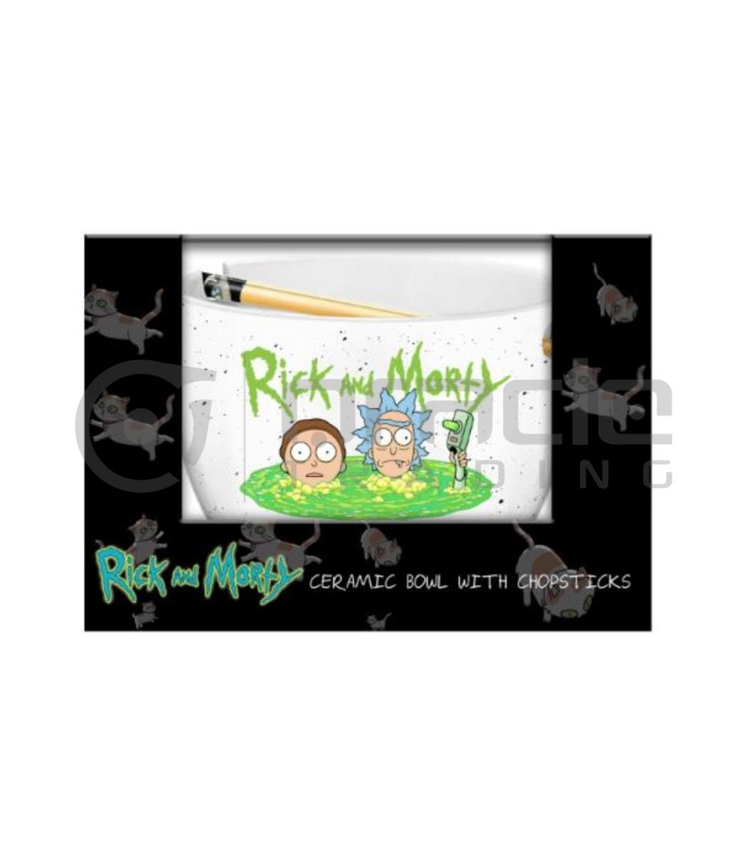 Rick & Morty Ramen Bowl & Chopsticks - Portal