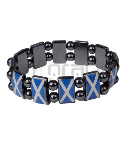 Scotland Stone Bracelets 12-Pack (St. Andrew's Cross)