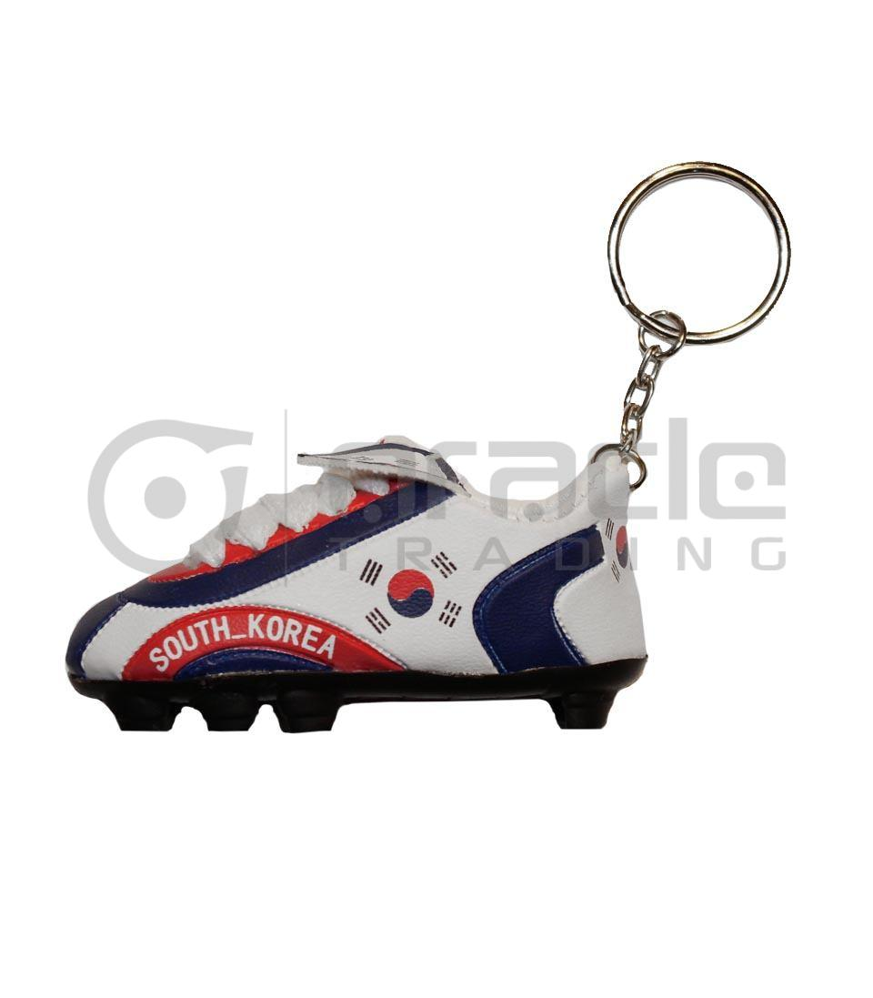 RUSSIA COUNTRY FLAG SOCCER  SHOE CLEAT KEYCHAIN . NEW