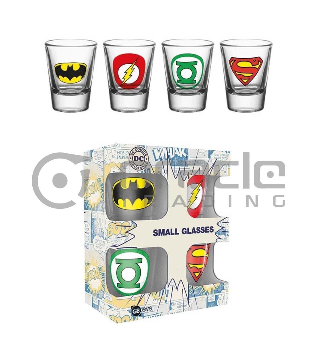 DC Comics Shot Glass Set (4-Pack)