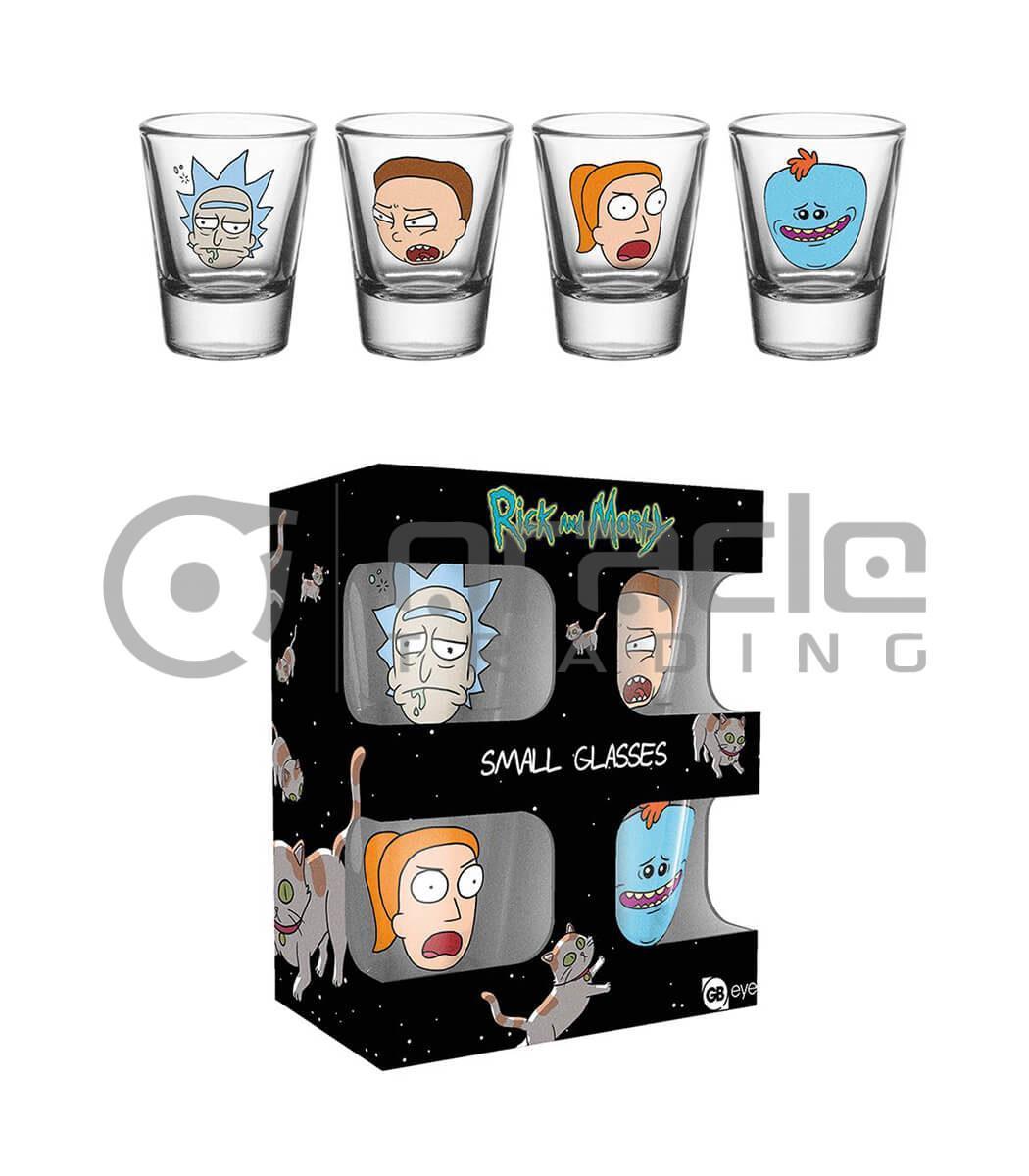 Rick & Morty Shot Glass Set (4-Pack)