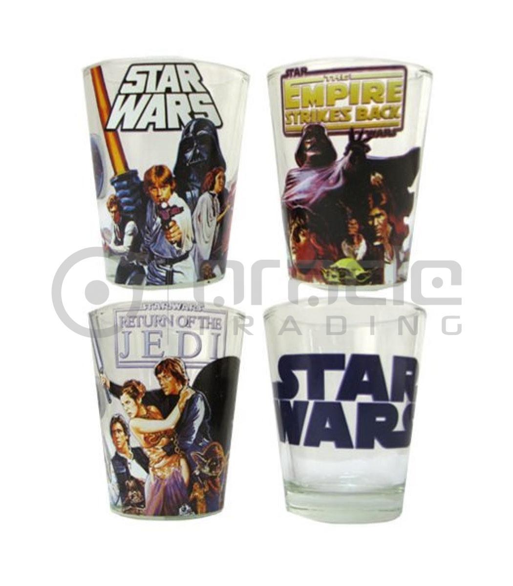 Star Wars Shot Glass Set - Nostalgia (4-Pack)