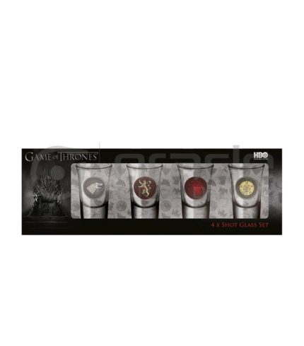 Game of Thrones 4-Pack Shot Glass Set