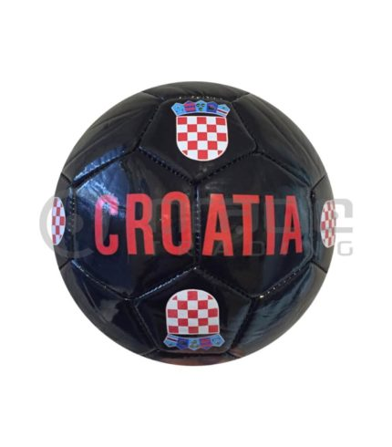Croatia Small Soccer Ball - Black
