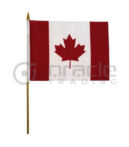 "Canada Small Stick Flag - 4""x6"" - 12-Pack"