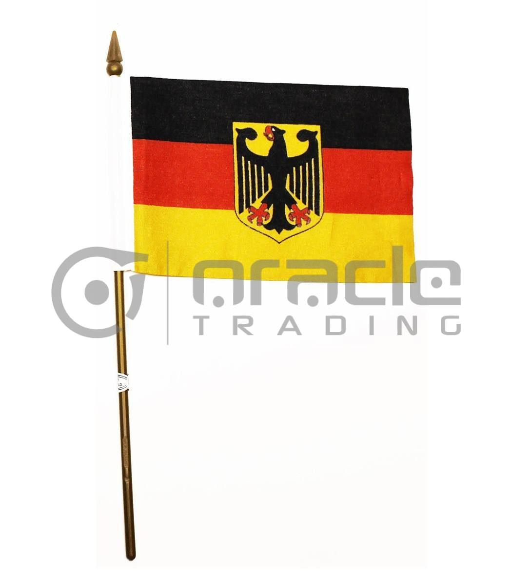 """Germany Eagle Small Stick Flag - 4""""x6"""" - 12-Pack"""