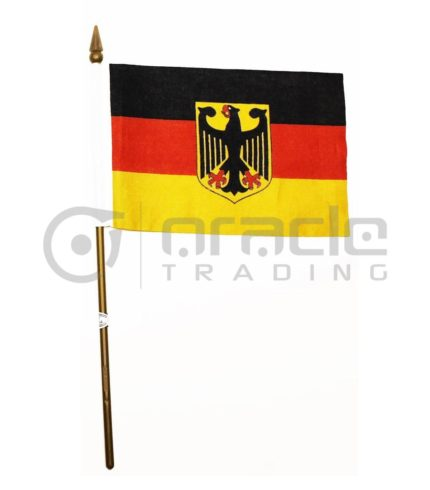 "Germany Eagle Small Stick Flag - 4""x6"" - 12-Pack"