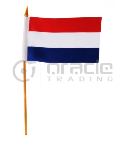 "Netherlands Small Stick Flag - 4""x6"" - 12-Pack (Holland)"