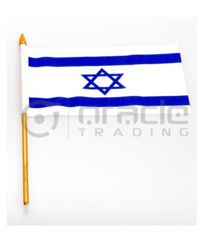 "Israel Small Stick Flag - 4""x6"" - 12-Pack"