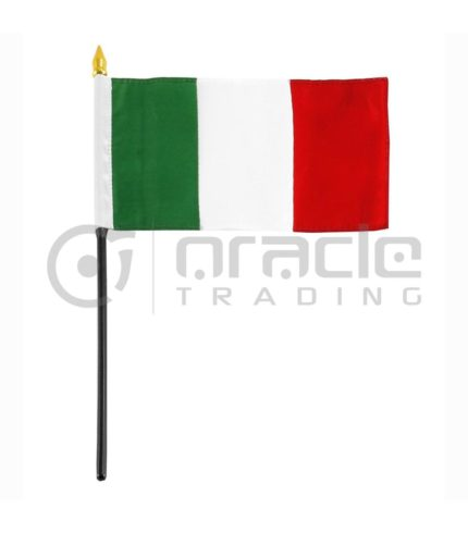 "Italia Small Stick Flag - 4""x6"" - 12-Pack"
