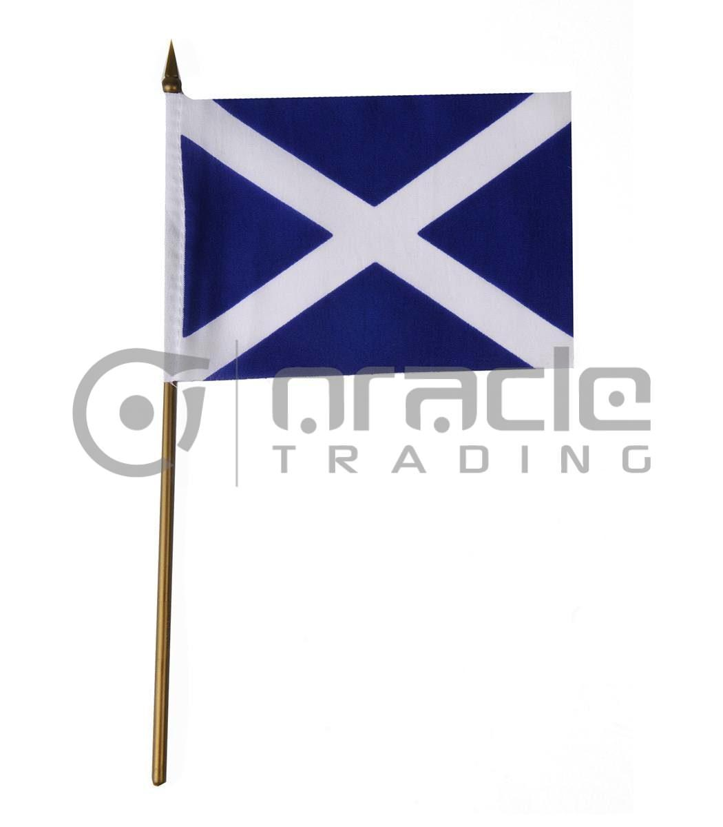 "Scotland Small Stick Flag - 4""x6"" - 12-Pack (St. Andew's Cross)"