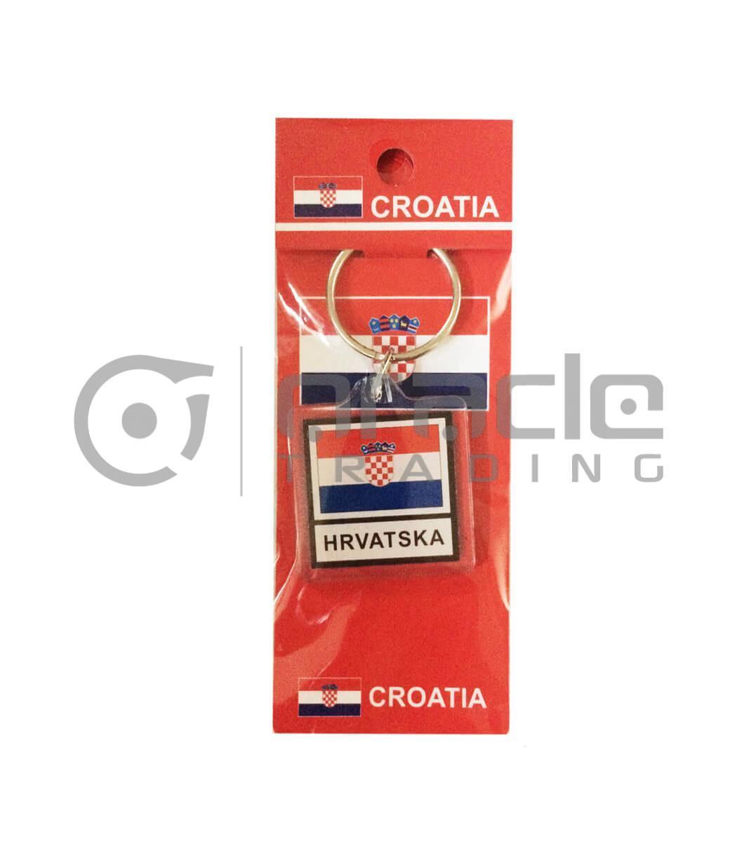 Croatia Square Keychain 12-Pack