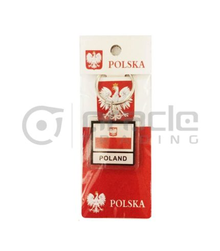 Poland Square Keychain 12-Pack