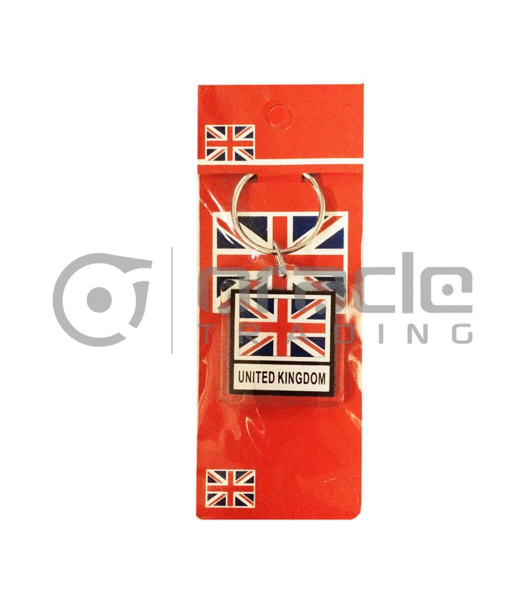 UK Square Keychain 12-Pack