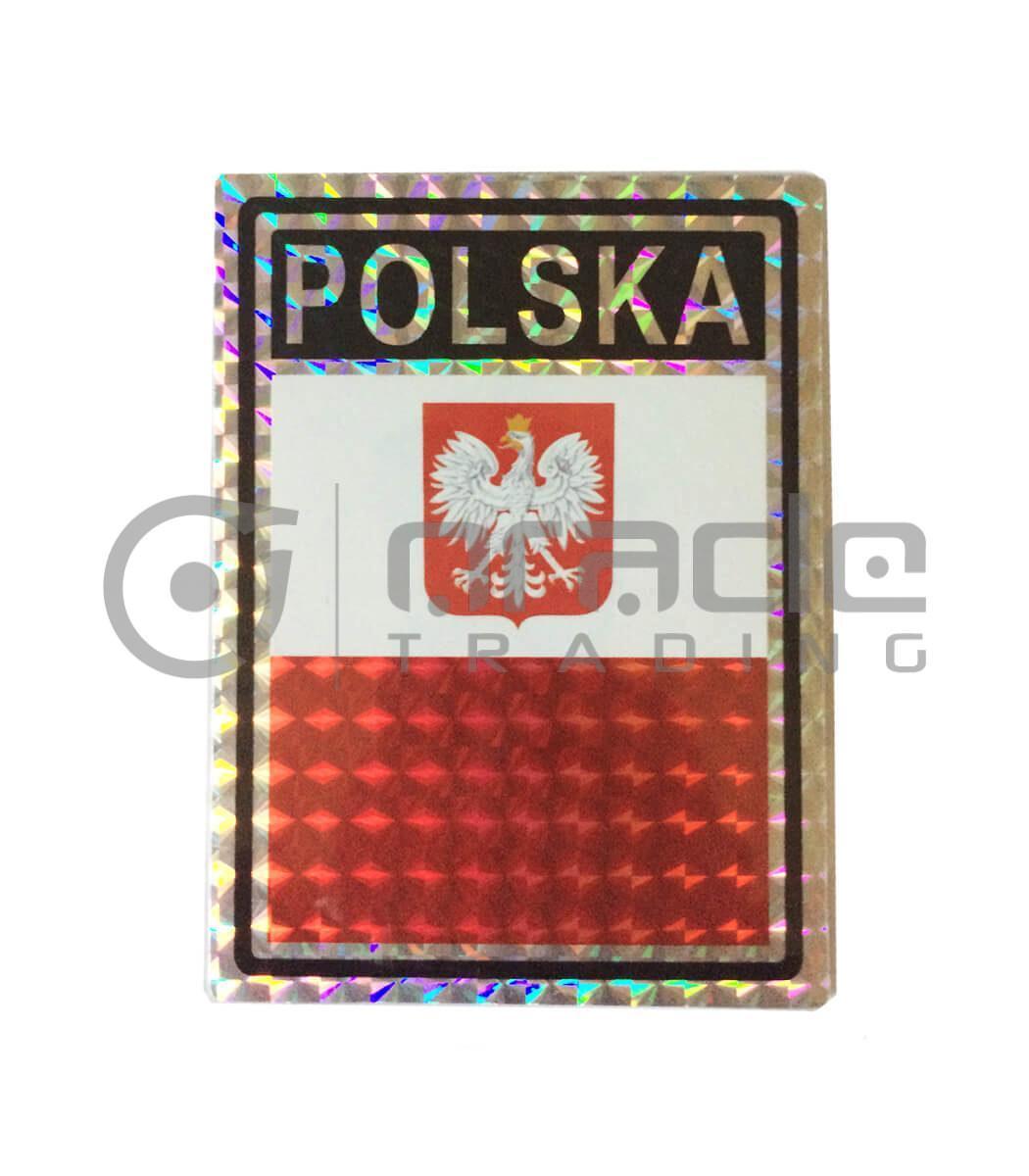 Poland Square Bumper Sticker