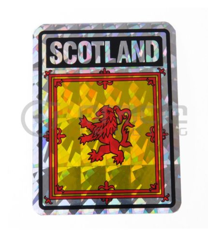 Scotland Square Bumper Sticker (Rampant Lion)