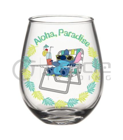 Lilo & Stitch Stemless Glass - Aloha Paradise