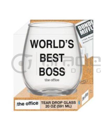 The Office Stemless Glass - World's Best Boss