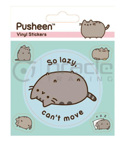 Pusheen Vinyl Sticker Pack - Lazy