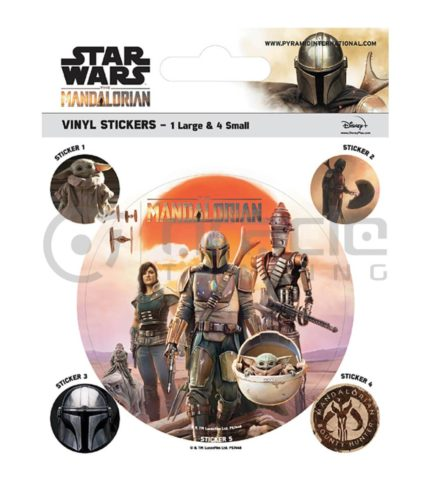 Star Wars: The Mandalorian Vinyl Sticker Pack - Cast