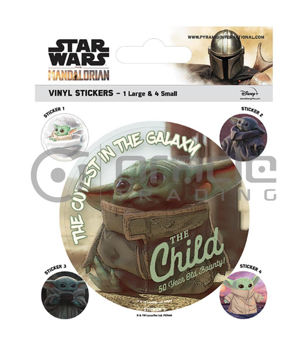 Star Wars: The Mandalorian Vinyl Sticker Pack - The Child