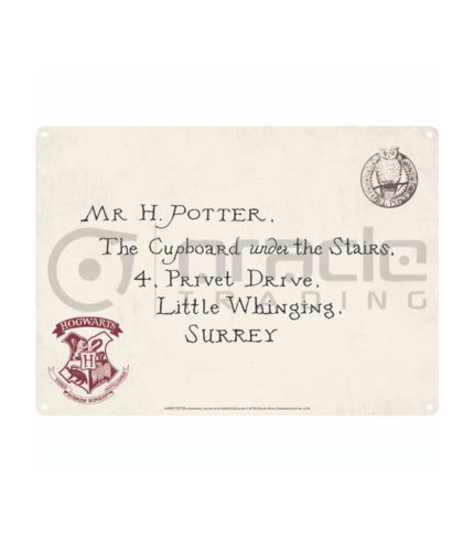 Harry Potter Street Sign - Hogwarts Letter